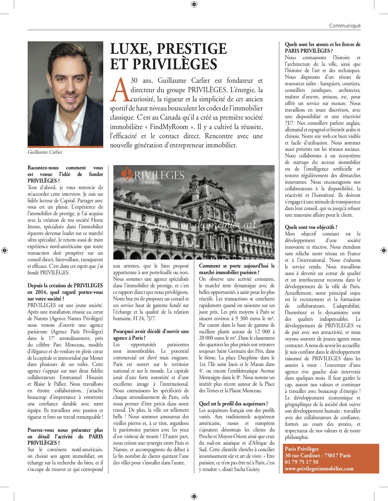 CAPITAL P133 ANG PARIS - Capital Spécial Immobilier N°324