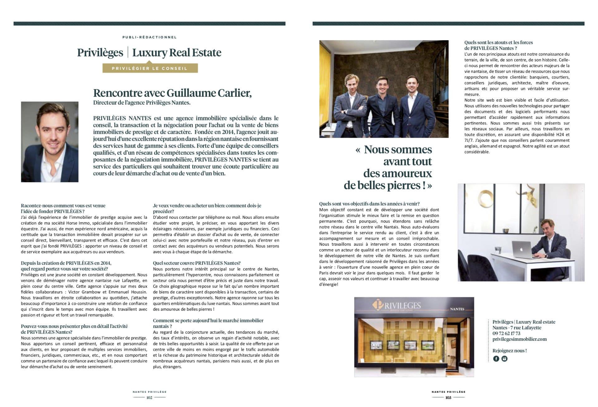 Magazine Nantes Privilège – automne/hiver 2017